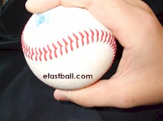 Side view - Cut Fastball (Cutter) Grip