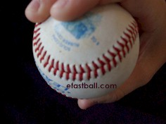 Top view - Cut Fastball (Cutter) Grip