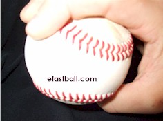 Side view - Four Seam Fastball Grip