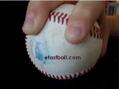 Top view - Four Seam Fastball Grip