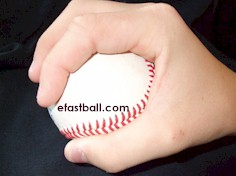Side view - Palm Ball Change Up Grip