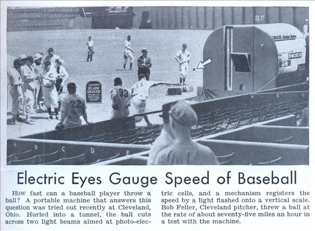 Popular Science 1939 article pitching tests in Cleveland
