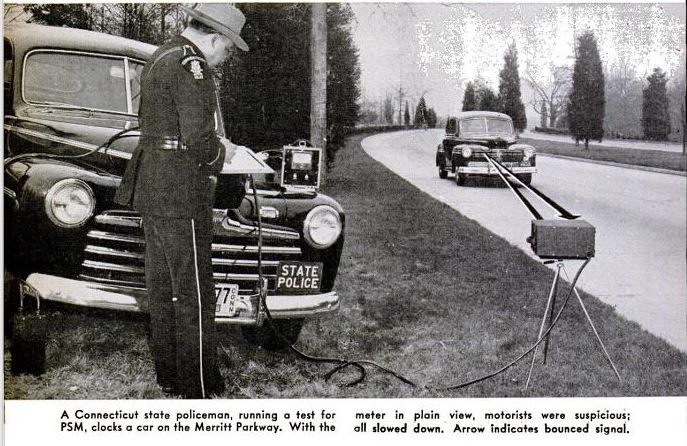 Traffic radar in 1947